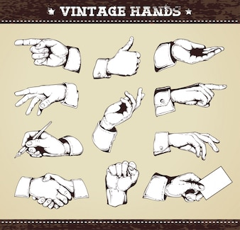 Vintage hands collection