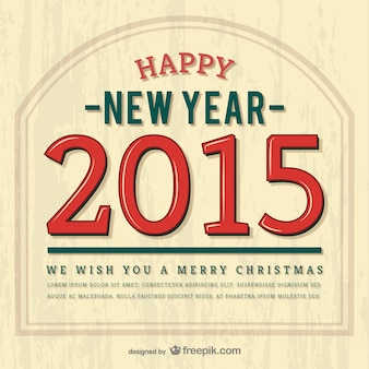 Vintage happy 2015 vector