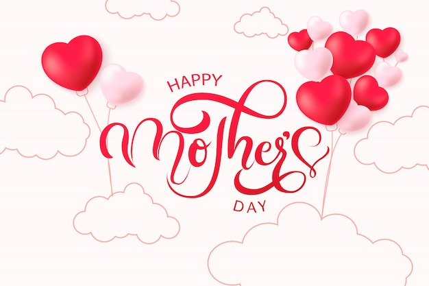 Vintage happy mothers's day background