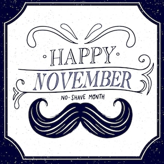 Vintage happy movember background