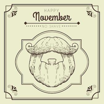 Vintage happy movember no shave wallpaper