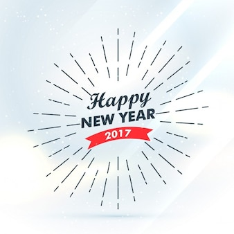 Vintage happy new year 2017 background with lines