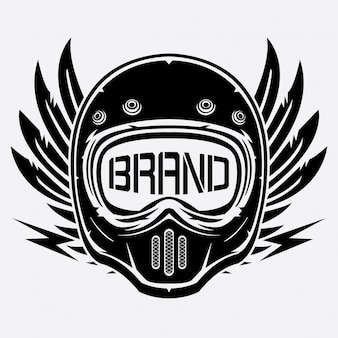 Vintage helmet logo club