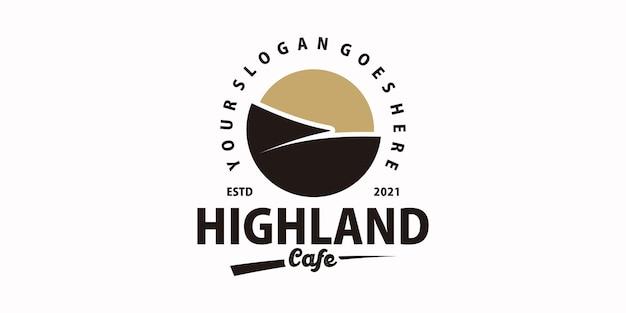 Vintage highland cafe logo, reference logo