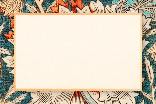 Винтажная цветочная рамка из жимолости, векторный ремикс на произведение уильяма морриса