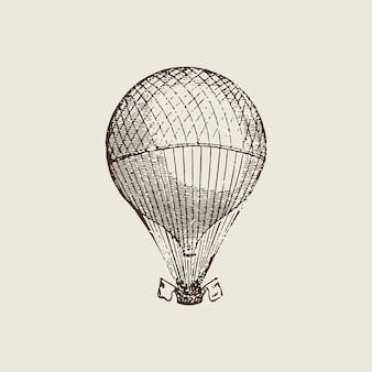 Vintage hot air balloon illustration