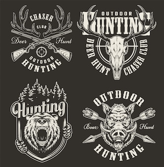 Vintage hunting badges