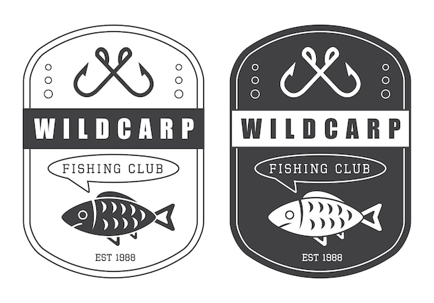 Vintage hunting and fishing logo