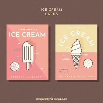 Vintage ice cream cards