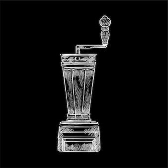 Vintage illustration of a coffee grinder