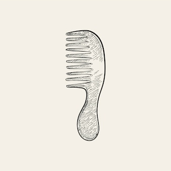 Vintage illustration of a comb