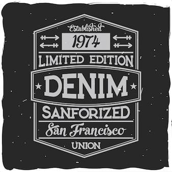 Vintage illustration design with lettering composition