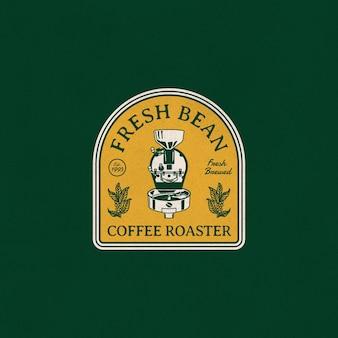 Винтаж иллюстрация значок логотипа ручной сваренный кофе