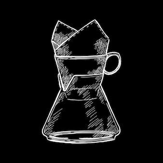 커피 메이커의 빈티지 일러스트