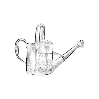 Vintage illustration of a watering can