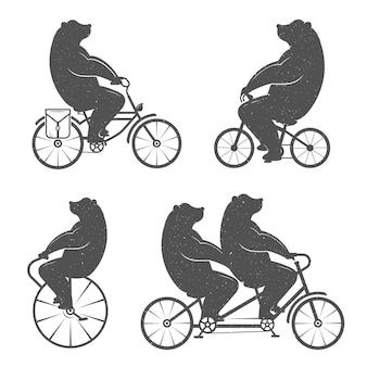 Винтажная иллюстрация медведя