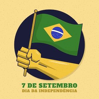 Festa dell'indipendenza d'annata del concetto del brasile
