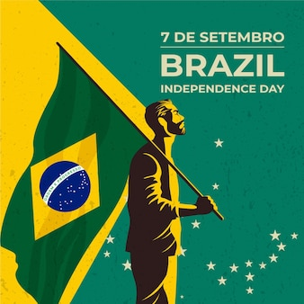 Vintage independence day of brazil