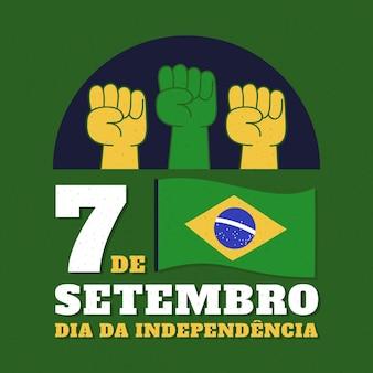Винтажный день независимости концепции бразилии