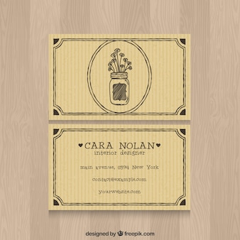 Vintage interior designer card