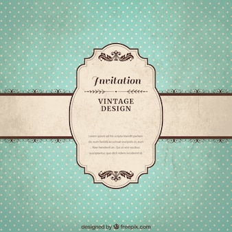 Vintage invitation template