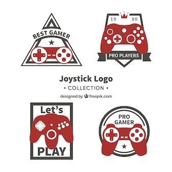 Коллекция шаблонов для логотипов vintage joystick