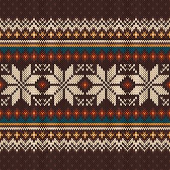 빈티지 니트 패턴