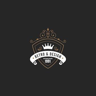 Винтажная этикетка, значок дизайн логотипа