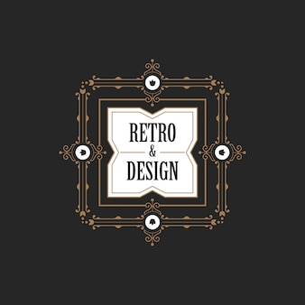 Vintage label badge logo icon.