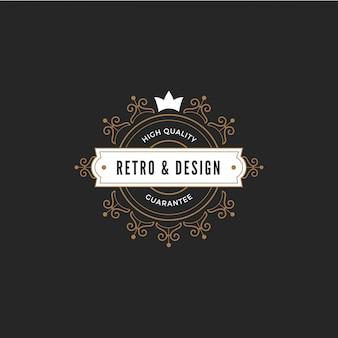 Винтажная этикетка шаблон логотипа значка