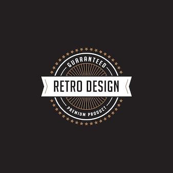 Vintage label badge logo vector icon.