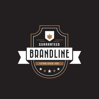 Урожай этикетка значок логотипа.
