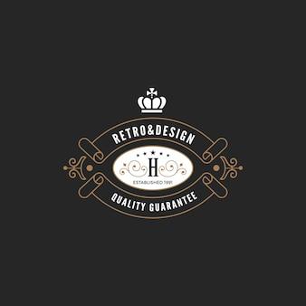 Винтажная этикетка с логотипом.