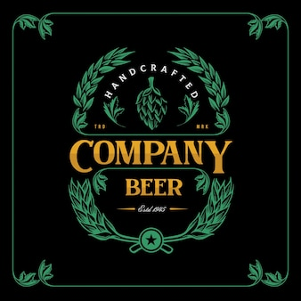 Vintage label beer for brewery company