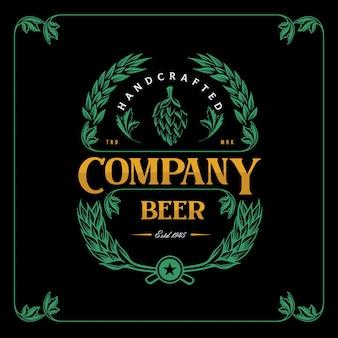 Пиво vintage label для пивоваренной компании