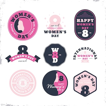 Vintage label collection for women day