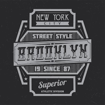 Vintage label design with lettering composition on dark .