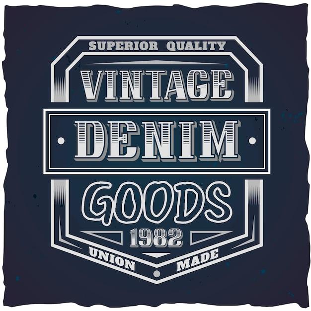 Винтажный дизайн этикетки с надписью состав на темном фоне. дизайн футболки.