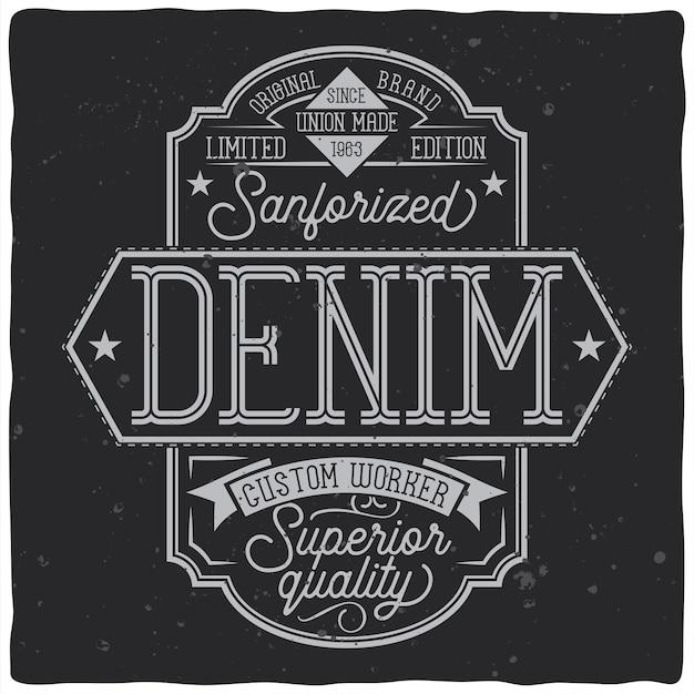 어둠에 글자 구성으로 빈티지 라벨 디자인