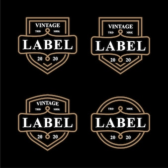 Vintage label emblem set logo icon symbol design
