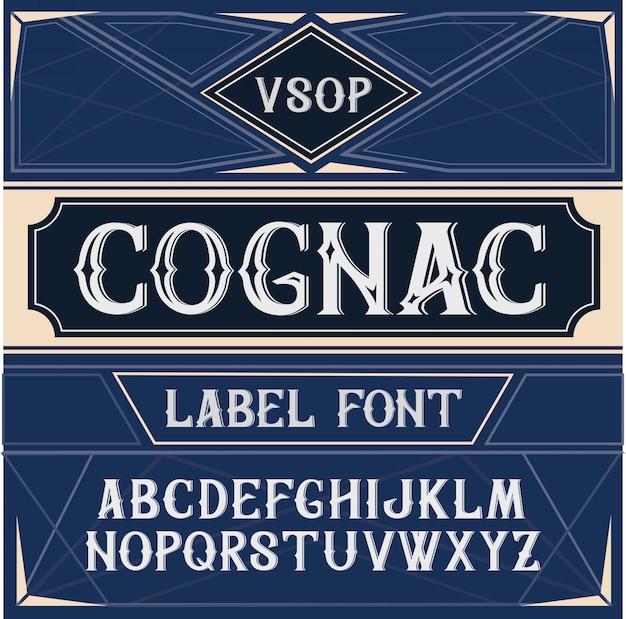 빈티지 라벨 글꼴 코냑 스타일