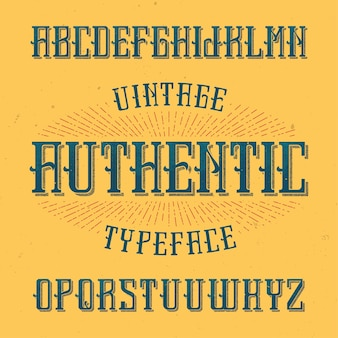 Authentic이라는 빈티지 라벨 글꼴. 모든 창의적인 라벨에 사용하기에 좋습니다.
