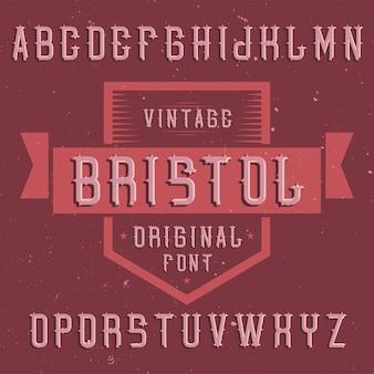 Carattere di etichetta vintage denominato bristol. buono da usare in qualsiasi etichetta creativa.