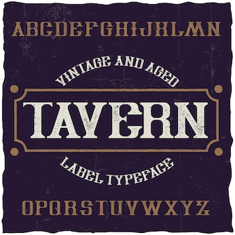 Tavern이라는 빈티지 라벨 글꼴