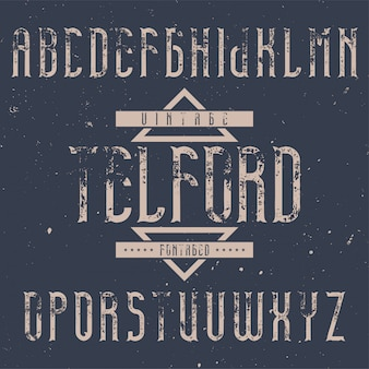 Vintage label font named telford. good to use in any creative labels.