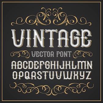 빈티지 라벨 글꼴 레트로 글꼴