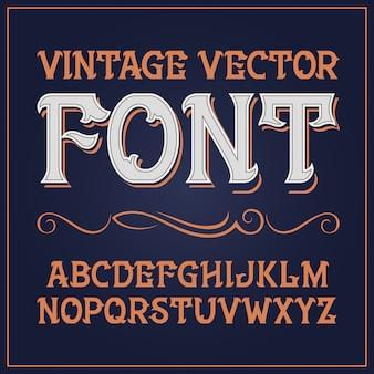빈티지 라벨 글꼴