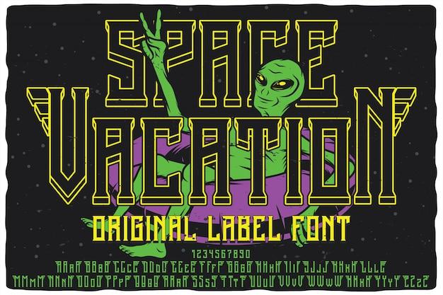 Vintage label font