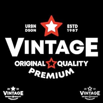 Vintage label logo
