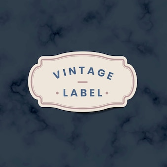 Vintage label sticker decorated with roses on vector